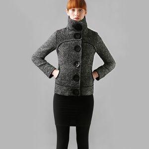 Soia & Kyo Black Teo Wool Blend Coat